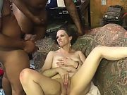 "2 11"" long BBC NUT ALL OVER WIFES FACE"