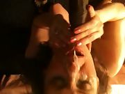 Taking a huge bbc facial from a friend