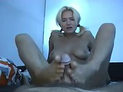 Hot cum finish to this delightful foot job