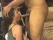 Wife's first time swallowing a mouth full of cum