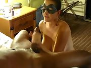 The Mrs sucking off a black guy