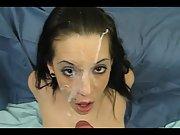 Slutty babe got sprayed in POV