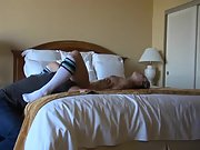Amateur beauty getting nailed on hard on the bed multiple orgasm