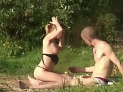 Voyeur public sex porn hidden camera peeping tom hiding in bushes