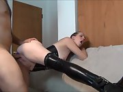 Lovely blonde with an anal plug is well fucked